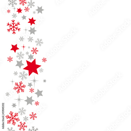 Snow And Stars Background Grey Red
