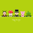 Ladybeetle, Fly Agaric, Chimney Sweeper, Pig & Cloverleaf