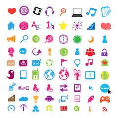 Social color Media Circles Icon, Network Vector