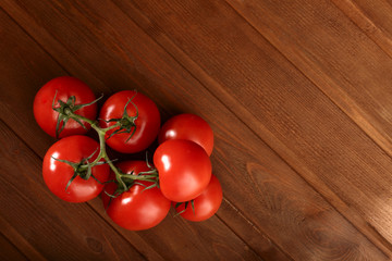 tomato on wood table