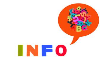Info Written In Multicolored Plastic Kids Letters