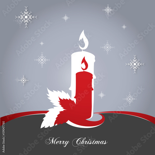 candles card red