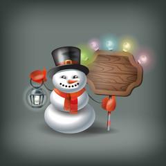 Snowman. Vector format
