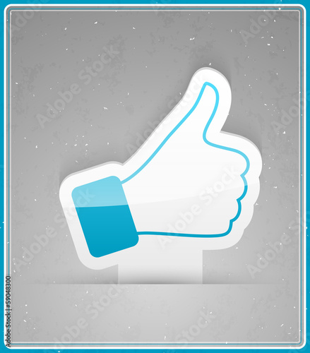 Thumbs up sticker.