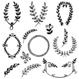 Vector collection of hand drawn design elements