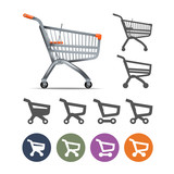 Shopping cart. Vector format