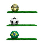 Three banners with 2014 Mundial theme ball