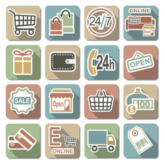 Vector Shopping Flat Icons