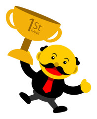 illustration vector graphic cartoon character of businessman