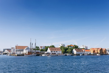 Haugesund Town in Norway, view at Hasseloy island