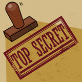 Stamp Top Secret, vector