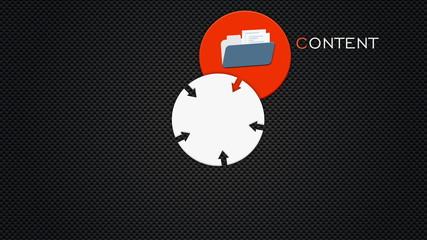 CMS. Content management system concept