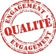 Engagement qualité rouge
