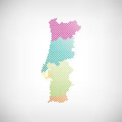 Portugal Regionen Karte