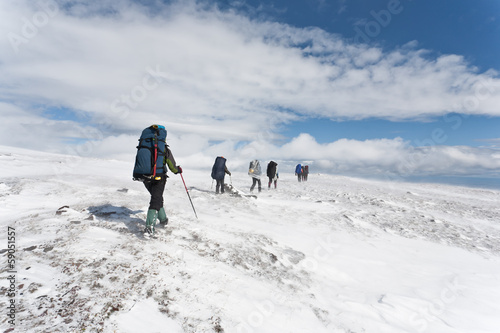 Group of hikers.