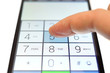 dialing on touchscreen smartphone