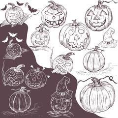 hand drawn pumpkins