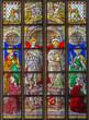 Antwerp - Windowpane of apostle John and Jacob