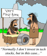 Caveman considers the wheel a tech stock