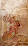 Rome -  Archangel Gabriel fresco from Annunciation