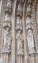 Bruxelles - Détail de portail principal de Notre-Dame du Sablon