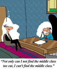 A policy advistor cannot find the middle class