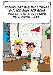 Santa sends virtual gift