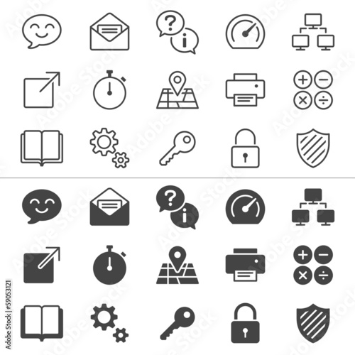 Application thin icons, included normal and enable state.