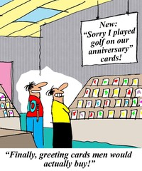 Sorry I played golf cards