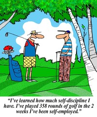 Golfer has learned self discipline