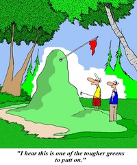 Tough green for putting