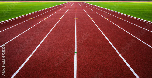 New running track with green grass abstract,texture,background