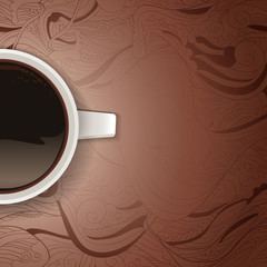 Take and drink - hot black coffee