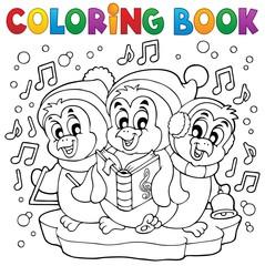 Coloring book cute penguins 4