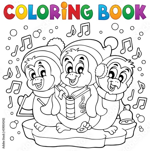 Coloring book cute penguins 4