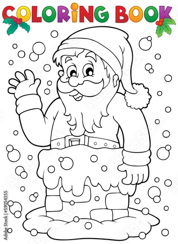 Coloring book Santa Claus topic 9