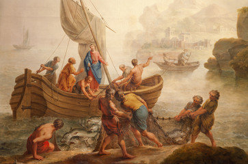 Gent - Paint of miracle fishing from st. Peter s church