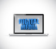 laptop digital media illustration design