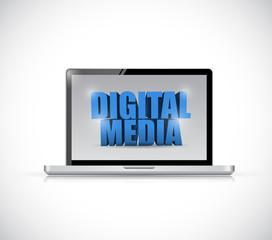 laptop digital media illustration design