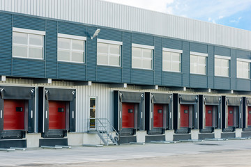 large logistic warehouse