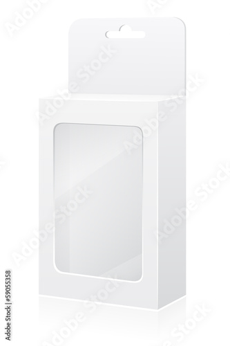 transparent packing box vector illustration
