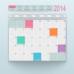 Calendar design 2014