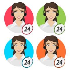 Girl telephone operator 24