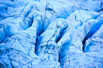 Close-up view of Fox glacier on New Zealand's south island.