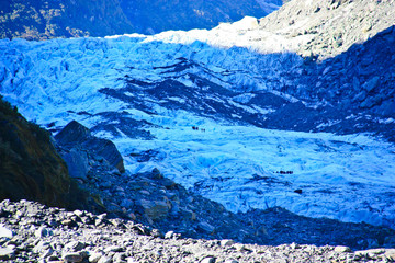Fox glacier on New Zealand's south island