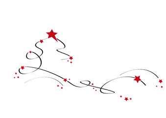 weihnachtsbaum schwarz/rot