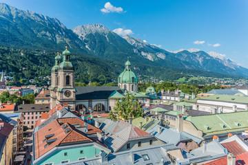 General view of Innsbruck in western Austria.