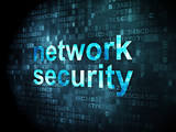 Privacy concept: Network Security on digital background