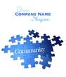 Blue Community puzzle