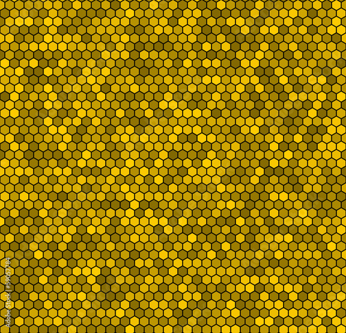 Yellow honeycomb background.